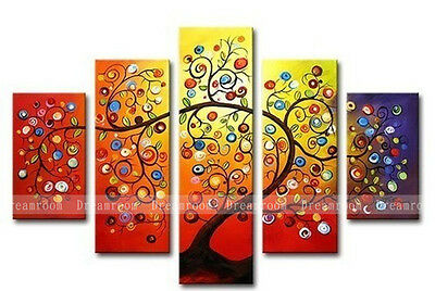 P324 5pcs Hand painted Oil Canvas Wall Art Home Decor modern abstract NO Frame