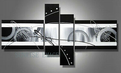 P316 4pcs Hand painted Oil Canvas Wall Art Home Decor modern abstract NO Frame