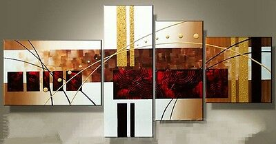 P003 4PCS Modern Abstract Art Oil Painting On canvas Wall Deco No framework
