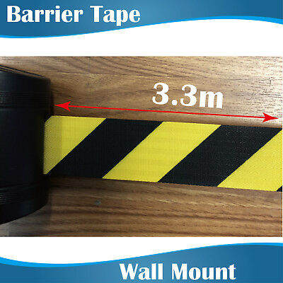 3.3m Retractable Barrier Tape/crow control barriers/wall mount barrier