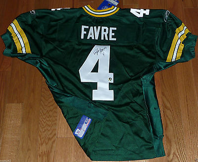 GREEN BAY PACKERS BRETT FAVRE AUTOGRAPHED AUTO REEBOK AUTHENTIC JERSEY TAG SZ 48