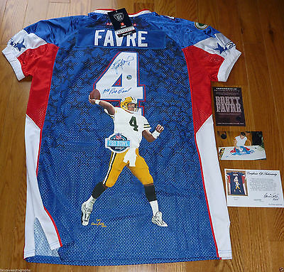 GREEN BAY PACKERS BRETT FAVRE AUTOGRAPHED PAINTED PRO BOWL JERSEY LE 1 of 1 COA