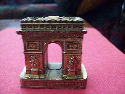 VINTAGE  METAL REPLICA -ARC DE TRIOMPHE  -PARIS   FRANCE