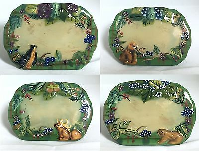 Set 4 TRACY PORTER New ~BELOVED COUNTRY~ Ceramic PLACE CARD Holders~16 AVAILABLE