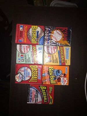 Lot Of 180 Old Unopened Baseball Cards In Factory Sealed Packs