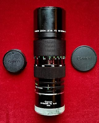 Canon FD 80-200mm f/4.0 FD Telephoto Zoom Lens and Extender 2x-B