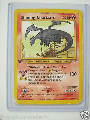 Pokemon 1st Edition Shining Charizard 107/105 - Neo Destiny - HOLO - Heavy Play