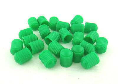 24 Pcs.green Tpms Tire Valve Stem Caps For Nitrogen Inflation.