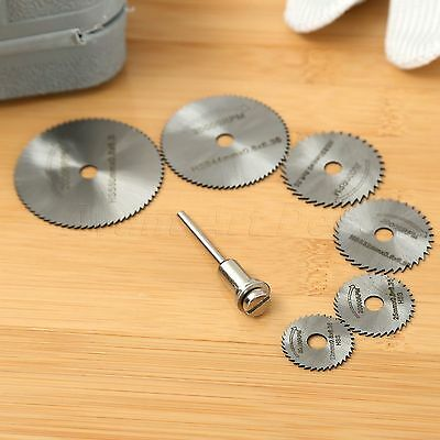 6PCS HSS Steel Circular Saw Blades Cutting Discs Mandrel  Grinder Cut off Tool