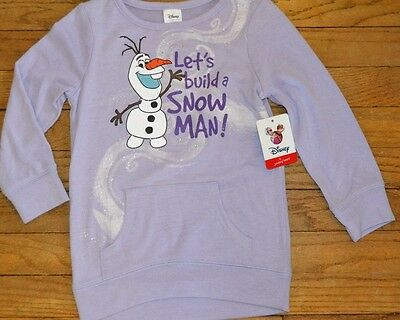 Disney Frozen OLAF Long Sleeve Top Toddler Girls Glitter MSRP $28.00 QUALITY