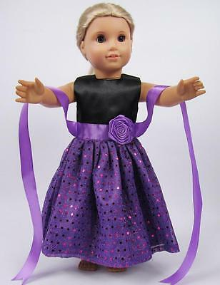 """Hot Doll Clothes for 18"""" American Girl Handmade Hot Summer Dress gown dolls b16"""