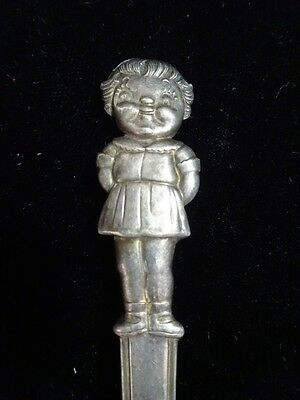 Vtg CAMPBELL'S KIDS SOUP Girl FIGURE International SILVER Plated SPOON Teaspoon