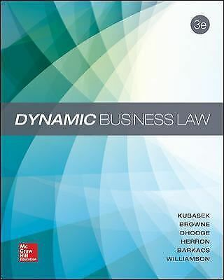 Dynamic Business Law (2014, Hardcover)