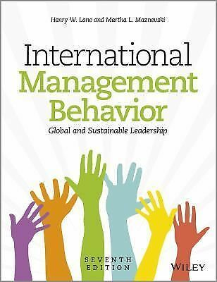 International Management Behavior : Global and Sustainable Leadership by...