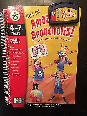 Leappad Interactive Health Storybook + Cartridge Amazing Broncholis Ages 4-7