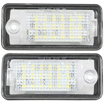 NUMBER LICENSE PLATE LIGHT LAMP 2x LED FOR AUDI A3 S3 A4 B6 B7 A6 C6 S6 A8 Q7