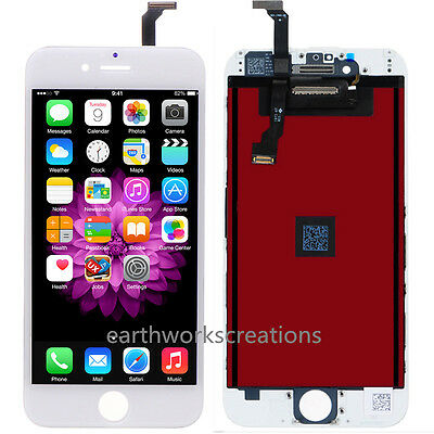 """US White Glass LCD Display & Touch Screen Digitizer Assembly for iPhone 6 4.7"""""""
