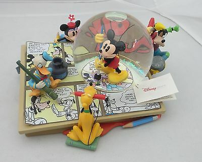 Disney Musical Snow Globe Musical Box Tune Sketches Mickey Mouse Club March