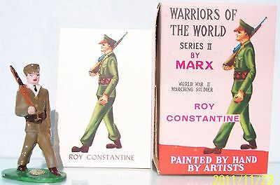 MARX WARRIORS OF THE WORLD WW2 MARCHING SOLDIER ROY CONSTANTINE EX+
