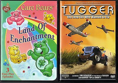 Care Bears: Land Of Enchantment (DVD, 2005) & Tugger - The Jeep 4X4 TWTF (DVD)