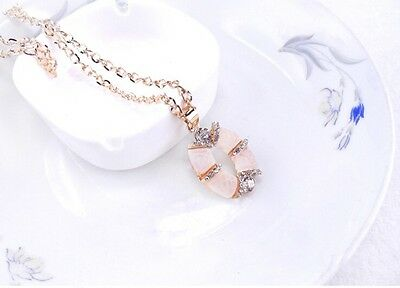 Free Shipping Womens 9K Yellow Gold Filled & AAA CZ Necklace with Pendant C-N108