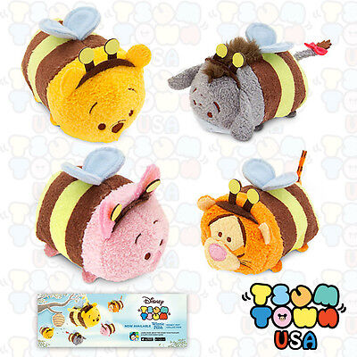 RARE Disney Winnie The Pooh Bumble Bee Mini Tsum Tsum SET OF 4 - SOLD OUT