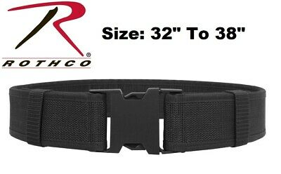 """Black Size 32"""" To 38"""" Police Security Military Tactical Duty Belt 10570 Rothco"""