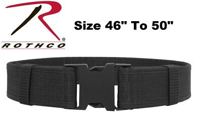 """Black Size 46"""" To 50"""" Police Security Military Tactical Duty Belt 10570 Rothco"""
