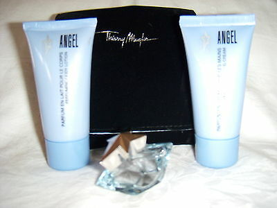 ANGEL BY THIERRY MUGLER EDP FOUR PIECE MAGIC MINI COLLECTOR'S SET -- THE BEST!!!