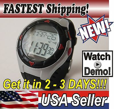 NEW! Pulse Heart Rate Monitor Calories Counter Fitness Watch silver 21