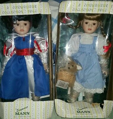 2 Rare Connoisseur Collection Dolls Dorothy from The Wizard of OZ & Snow White