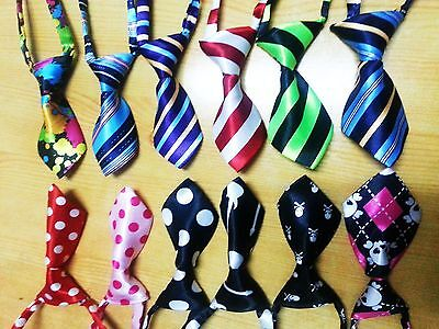 Lot 20/30/50/100 Mixed Pet Puppy Necktie Dog Tie Collar out bowtie ties 33Color