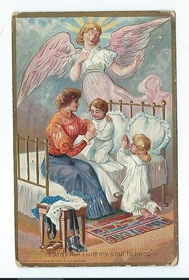 Vintage Postcard I pray the Lord my soul to keep, Posted 1909, Embossed