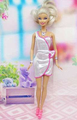 High quality Original wedding gown wears clothes Outfit Barbie Doll Party A3