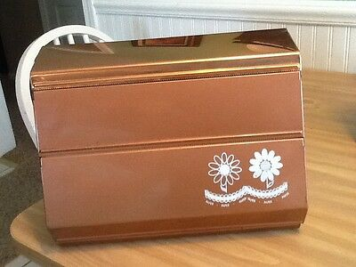Vintage Foil/Waxed Paper/Paper Towel Copper With Daisies