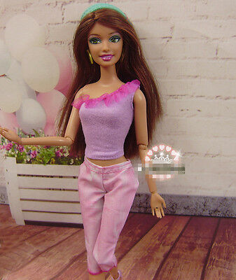 High quality Original wedding gown wears clothes Outfit Barbie Doll Party A7