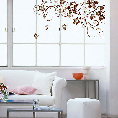 Removable Wall Stickers Home Decor Art Decal Mural Room DIY Paper Flower Vine