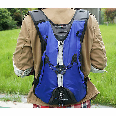 Hydration Water Pack Cycling Backpack Camping Hiking Climbing Pouch - BLUE