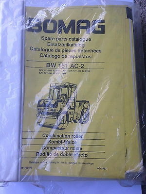 Parts Manual  BOMAG BW151 AC-2 Combination Roller