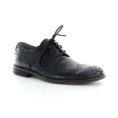 Hush Puppies Mens Wing Tip Dress Shoes Size 9 M H102448 Bozeman Black Leather