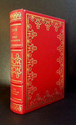 """THE FRANKLIN LIBRARY - """"1919"""" by JOHN DOS PASSOS (Leather-bound Hardcover)"""