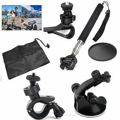 Accessries Bundle Kit for Action Sports Cameras Monopod+Car Suction mount Gift H