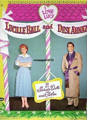 VINTAGE UNCUT 1953 LUCY LUCILLE BALL PAPER DOLLS~FREE SHIPPING~#1 REPRO~FABULOUS