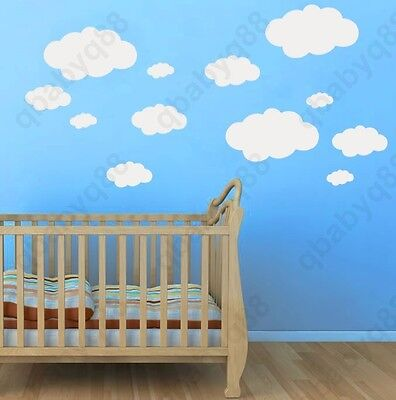 Cloud Wall Decals Removable stickers home Vinyl decor kids nursery mural Large