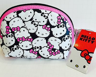 Loungefly Pink Black Hello Kitty Cosmetic Pouch Bag