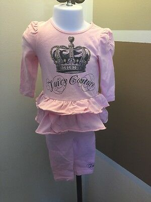 Infant Girls Juicy Couture Pink 2 Piece Set Size 6-12M