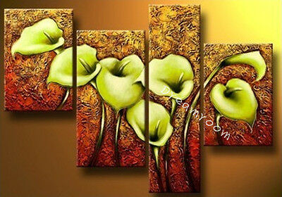 P277 4pcs Hand painted Oil Canvas Wall Art Home Decor Modern abstract NO Frame