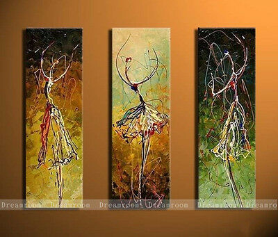 P351 3pcs Hand painted Oil Canvas Wall Art Home Decor modern abstract NO Frame