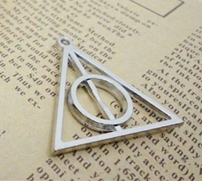 6pcs Tibet Silver Filigree Harry potter Deathly Hallows Charm Pendant 31x32mm