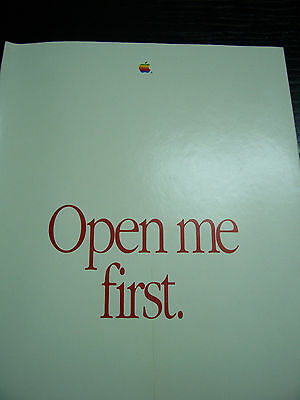 VTG Apple Mac Plus Open Me First Package w/System/Printing Tools/Tour 800K Disks